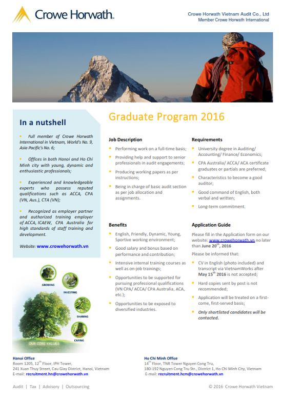 Crowe Horwath Vietnam - Graduate program 2016_001