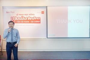 ÔngPhạm Ngọc Hoàng Thanh – Giám Đốc Điều hành Smart Trainchia sẻ thêm về mụcđích và ý nghĩa của chương trình học bổng
