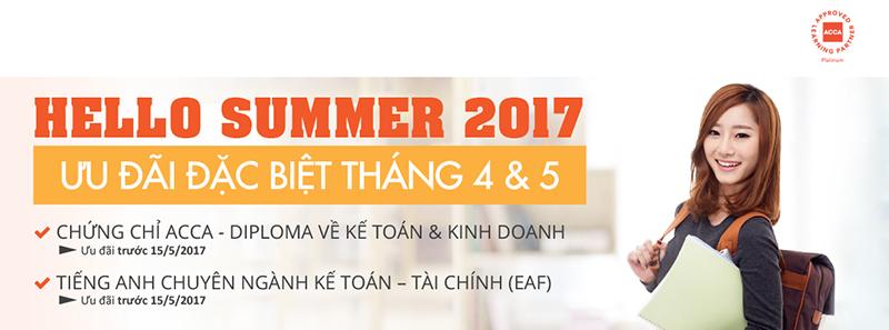 Chương trình ưu đãi học ACCA Hello Summer 2017