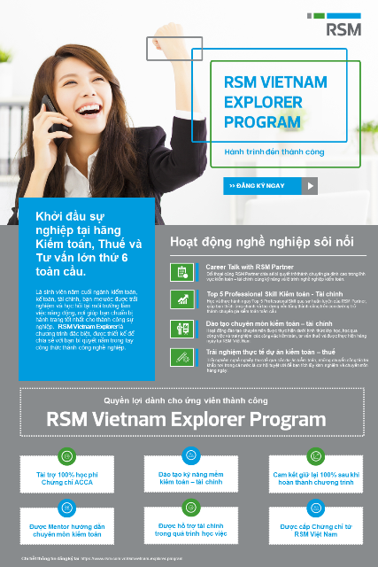 RSM Việt Nam tuyển dụng RSM Vietnam Explorer Program 1